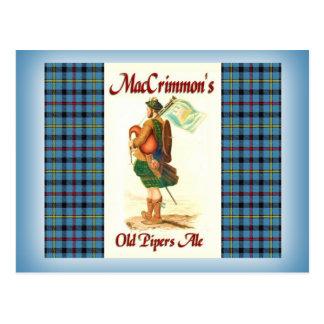 La cerveza inglesa del viejo gaitero de MacCrimmon Postal