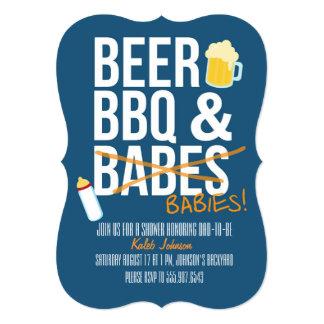 La cerveza, la fiesta de bienvenida al bebé del invitación 12,7 x 17,8 cm