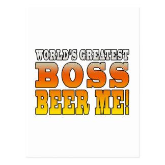 La cerveza más grande de Boss de los mundos de las Postal