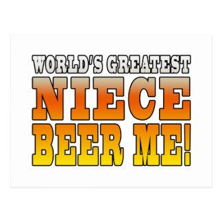 La cerveza más grande de la sobrina de los mundos postal