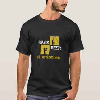 La cerveza y el bajo toda Weekend la camiseta