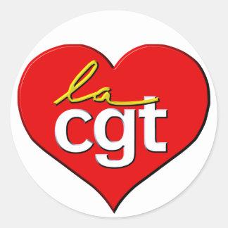 La CGT - auto-collant Pegatinas Redondas