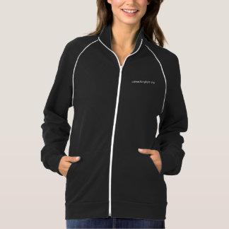 La chaqueta de las mujeres con la tubería - negro
