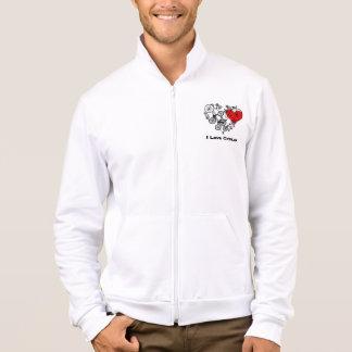 La chaqueta de los hombres de ciclo del amor