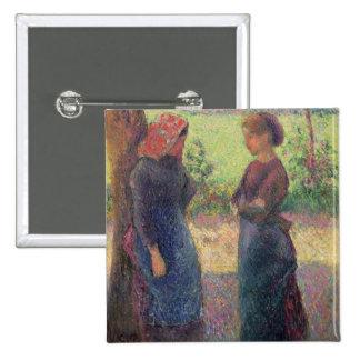 La charla, c.1892 (aceite en lona) pin