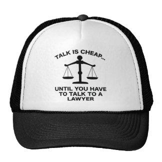 La charla es barata gorra