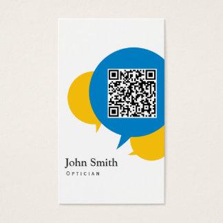 La charla simple burbujea tarjeta de visita del