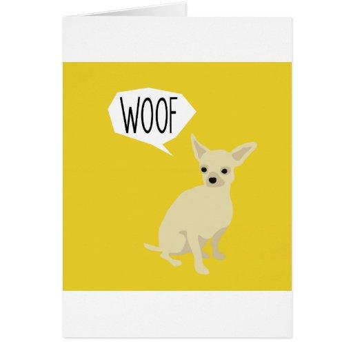 La chihuahua dice tejido felicitacion