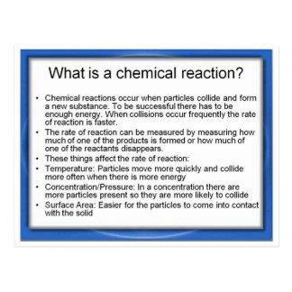 ¿La ciencia, cuál es una reacción química? Tarjeta Postal