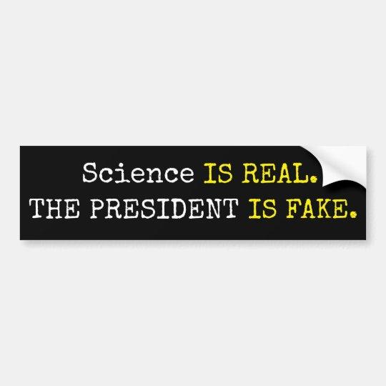 """La """"ciencia divertida es real. El presidente es Pegatina Para Coche"""
