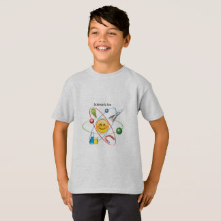 la ciencia es camiseta del emoji de la diversión