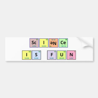 La ciencia es pegatina para el parachoques de la d pegatina para coche