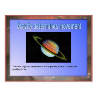 La ciencia, gravedad determina el movimiento postal