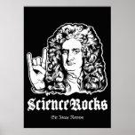 La ciencia oscila el poster de sir Isaac Newton