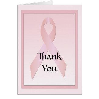 La cinta del cáncer de pecho le agradece tarjeta