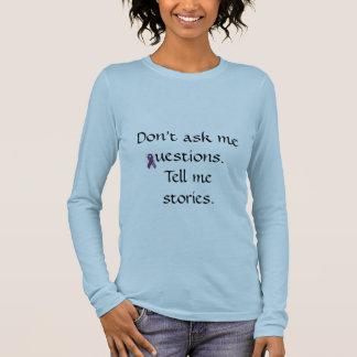La cinta y la cita de Alzheimer de la ayuda Camiseta De Manga Larga