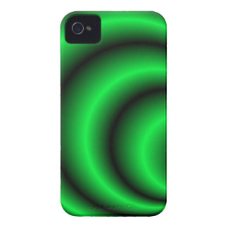 La circular verde abstracta agita la caja iPhone 4 Case-Mate fundas