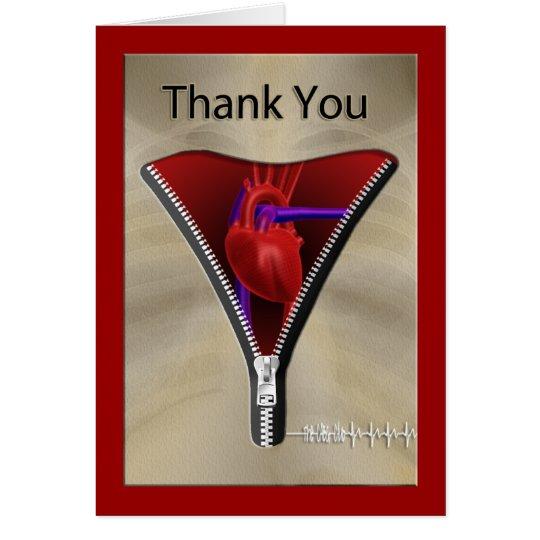 La cirugía de corazón le agradece cardar tarjeta de felicitación