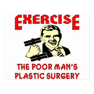 La cirugía plástica del pobre hombre del ejercicio tarjetas postales