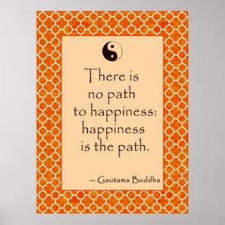 La cita de Buda allí no es ninguna trayectoria… Po