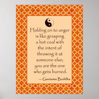 La cita de Buda dejó va de cólera….  Posters