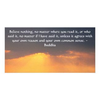 La cita de Buda inspira de motivación Tarjetas Fotográficas