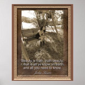 La cita de John Keats - impresión del arte -