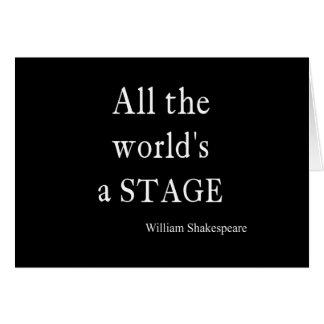 La cita de Shakespeare todo el mundo es citas de Tarjeta