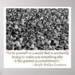 La cita de Waldo Emerson - sea usted mismo poster