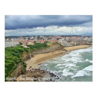 La ciudad de Biarritz - una visión panorámica Postal