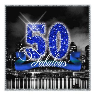 La ciudad enciende cincuenta fabulosos invitación 13,3 cm x 13,3cm