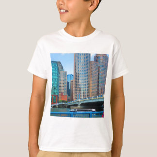 La ciudad Landcape urbano de Boston se eleva Camiseta