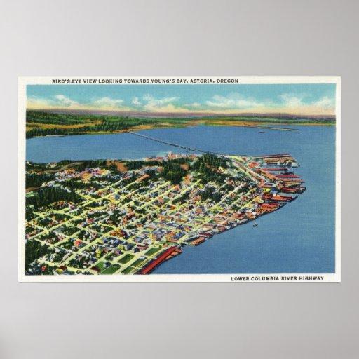 La ciudad que mira hacia la bahía de Young Posters