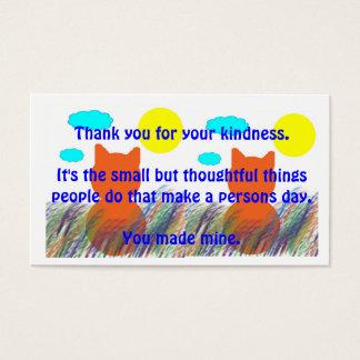 La clase actúa de agradecimiento tarjeta de negocios