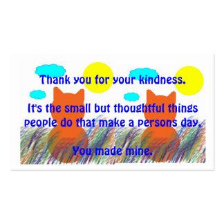 La clase actúa de agradecimiento plantilla de tarjeta personal