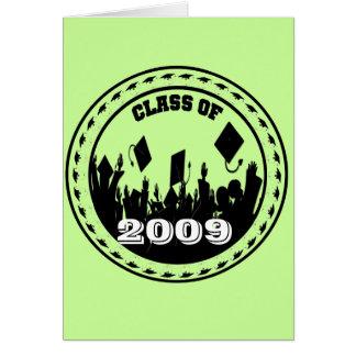 La clase de 2009/2010 invitación elige colores tarjeta de felicitación