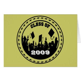 La clase de 2009/2010 invitación elige colores felicitación