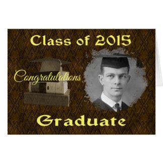 La clase de 2015 enhorabuena gradúa la tarjeta de