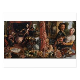 La cocina gorda. Una alegoría de Pieter Aertsen Postal