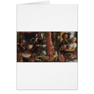 La cocina gorda. Una alegoría de Pieter Aertsen Tarjeta De Felicitación