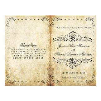 La colección adornada del boda del vintage del folleto 21,6 x 28 cm