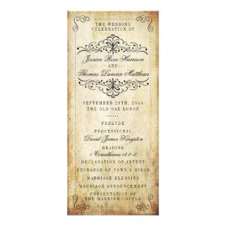 La colección adornada del boda del vintage del lonas personalizadas