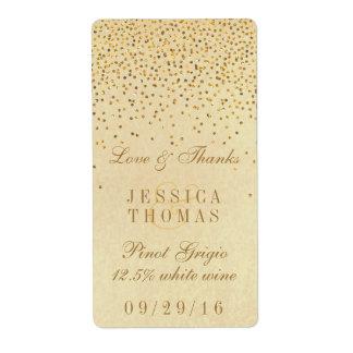 La colección atractiva del boda del confeti del etiqueta de envío