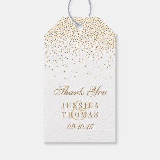La colección atractiva del boda del confeti del etiquetas para regalos