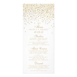 La colección atractiva del boda del confeti del tarjeta publicitaria a todo color
