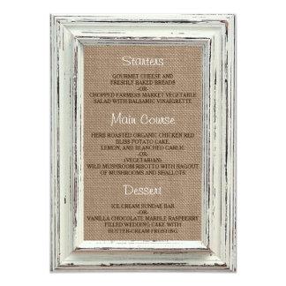La colección blanca rústica del boda del marco y invitación 11,4 x 15,8 cm