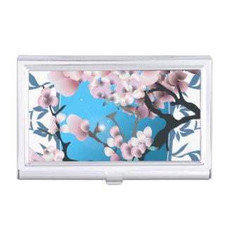La colección brillante de la mariposa con salpica cajas de tarjetas de negocios