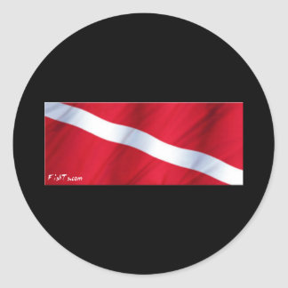La colección de la bandera de la zambullida pegatina redonda