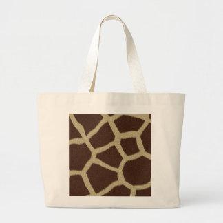 La colección de la piel - piel de la jirafa bolsa lienzo