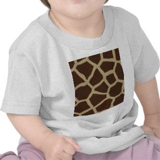 La colección de la piel - piel de la jirafa camiseta